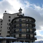 Veduta del Roseo Hotel dal parcheggio esterno  o