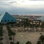 View of the pyramids from my room