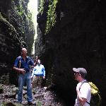Hiking with Bernie in the chasm at Aguateca