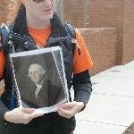 Guide talks about George Washington, our first president