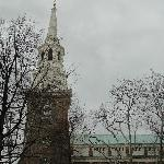 Steeple of Christ Church, one of oldest churches in America, founded in 1700's