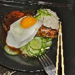 Pork chop dressed with Fried Egg