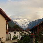 View of Jungfrau from hotel's front door