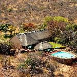 arial view of lodge