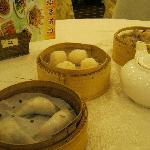 Veg dumplings, All-shrimp dumplings, Spareribs