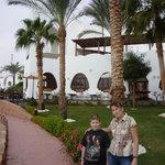внутри территории Hilton Dahab