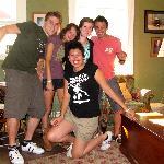 Una foto di gruppo insieme a Liz