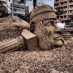 A sand sculpture at Las Canteras.