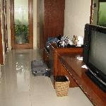 TV and hallway