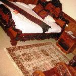 Hard bed, big furniture