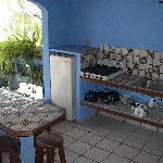 Cocina exterior bungalow