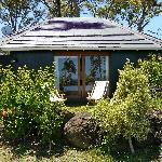 Außenansicht Bungalow Nr. 1 mit Garten
