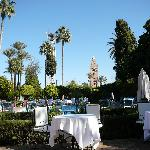 La piscine et le jardin de l'hôtel Chems