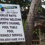 The sign you will find beach side. Come on up!