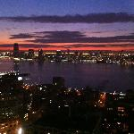 Sunset over the Hudson from 40th floor