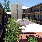 Deluxe room courtyard area