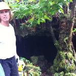 guide Steve at lava tube entrance