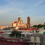 Amazing rooftop views of the nearby Cathedral and Zocalo