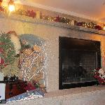 The Beautiful fireplace decorated for Christmas!