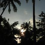 Bungalows im Sonnenaufgang