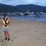 Playa en frente de la posada