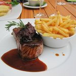 Rumpsteak with french fries - yummy!