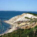 Gay Head Cliffs - View from Aquinnah Shop Restaurant