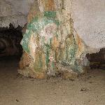 Oxyde de fer dans une grotte