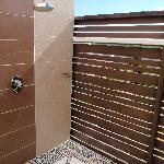 Outdoor showers Great on sunny days.