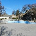 Outdoor Pool drained in the Winter