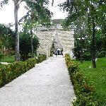 Viva Wyndham - Stone arches leading toward beach, Bar & Snack Hut in Background