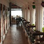 Hotel room coridor towards the restaurant