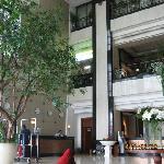 ホテル内のフロント