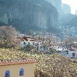 view from Doupiani house Balkoni Meteora