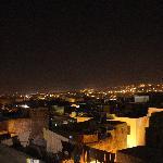 Vista nocturna de la Medina