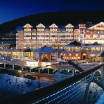 Cavallino Bianco Family Spa Grand Hotel by night