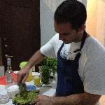Making guac