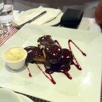 Eclair Desert served delicately warmed