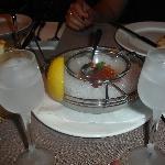 cold vodka & red caviar