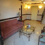 6th floor sofa area with balcony over view tht street  of abano sqaure