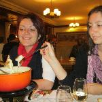 tasting fondue for the first time :)