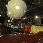 dinner buffet in main lodge