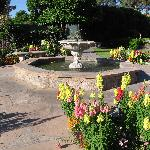 fountain near pool