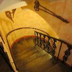 古城のような階段