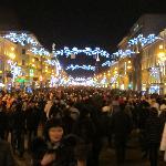 Nevsky Prospekt on New Year's Eve
