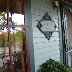 Front door of the Grey Oak Guest House