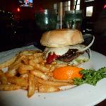 Portobello Mushroom Burger with Hamburger patty