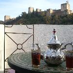 Un agradable té con unas vistas excepcionales.