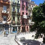 Plaza Savoia desde el ventanal