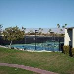 view out tennis courts from room